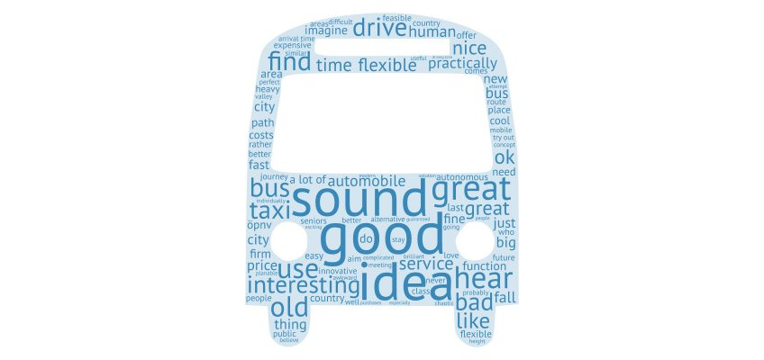 Autonomous Bus Word Cloud