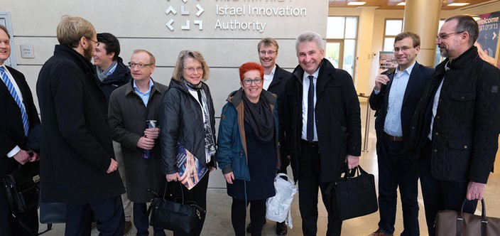 Business trip to Israel with Economics and Digital Minister Andreas Pinkwart